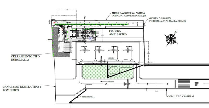 blueprints Quepos costa rica aeropuerto